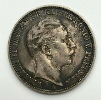 Dated : 1909 A - Silver Coin - Germany - 3 Mark - Prussia - Wilhelm II