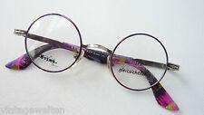 Sting runde kleine Brillenfassung Nickelbrille bunt unisex Vintage size S