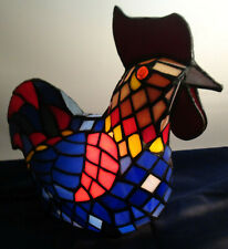 Tiffany Style Stained Glass Rooster/Chicken Lamp