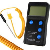 1Set K Type Black High Temperature Thermometer Pyrometer + Probe Kit 1300℃ 2327℉