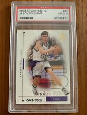 1998 - 99 SP Authentic Jason Williams Kings Rookie Card RC #97 PSA 9