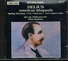 CD album: Delius: american rhapsody. John Hopkins. marco polo. B