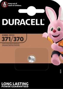 DURACELL 371/370 Pile Oxyde d'argent 1,5 V - Blister de 1 piles - DATE 03/2024
