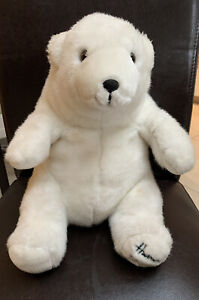 "Harrods 1989 Birthday Foot Dated 13"" White Christmas Teddy Polar Bear"