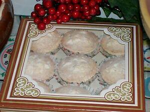 FAKE CAKES X 9 CHRISTMAS MINI MINCE PIES XMAS DISPLAY PROP TEAROOM KITCHEN HOME