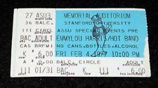 Emmylou Harris 1977 Original Concert Ticket Stub * Stanford * The Hot Band