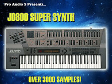 JD800 Super Synth INSTANT DOWNLOAD - Pads Synths Leads FX - OVER 3000+ Samples