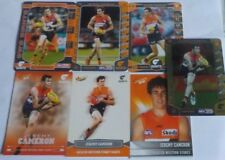 AFL Select & Teamcoach cards x 7 Jeremy Cameron - G.W.S. inc 2016 Gold #178