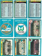 *Lot*cards(17)from 1979-80 OPC Checklist Teams, Checklists, Logos JETS, WHALERS!