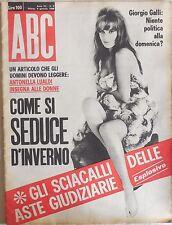RIVISTA ABC N.2 1966 ANTONELLA LUALDI GIORGIO GALLI BRIGITTE BARDOT