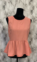 Forever 21 Size L Bubblegum Pink Pleated Sleeveless Blouse NWT