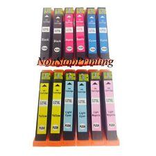 12PK Hi-Yield Ink For Epson 277XL 277 T277XL Expression XP850 XP860 XP950 XP960