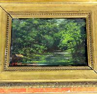 TABLEAU Huile sur Panneau Cadre 22 x 27 cm Signé G. ROMUALDO