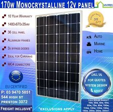 170W 12V Mono Solar Panel REAL 170 Watt 12 Volt New --- Freight Inclusive!*