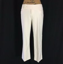Nanette Lepore 6 Medium Crop Dress Pant Off White Texture 4 Pocket Big Button LN