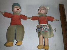 Vintage Norah Wellings Cloth Dutch Girl And Boy Doll Made in England