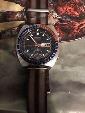 Mint Vintage Seiko Chronograph Calibre 6139 6002 Blue DialMens Watch