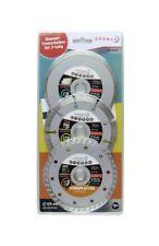 Diamanttrennscheiben-Set 125mm, 3-teilig, Universel, Béton, Pierre, Carrelage