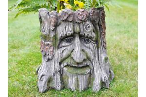 Baumstamm Kunstharz Resin Garten Blumentopf Pflanztopf