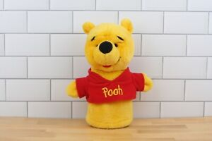 "Disney Arcotoys Mattel Winnie The Pooh Plush Toy 9"" Hand Puppet, Pretend"