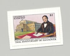 St Vincent (Grenadines) #814 Hannover, Architecture 1v Imperf Proof on Card