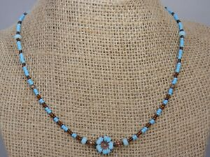 Seed Beads Czech Glass Flower Handmade Bohemian Necklace Boho Style Necklace