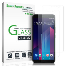 HTC U11 Plus amFilm Full Cover Tempered Glass Screen Protector (2 Pack)