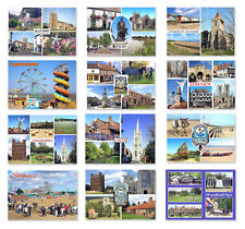 Packs of 6 Lincolnshire Postcards Skegness Lincoln Boston Cleethorpes Choose