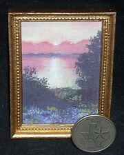 """Sunset Over Possum Kingdom Lake"" 1:12 Miniature Ltd Ed Texas Landscape Print"