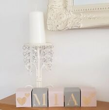 personalised baby name blocks