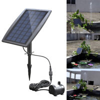 12V Solar Powered Fountain Garden Water Pump Pool Pond Aquarium for Outdoor