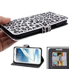Leopard/tiger Style para Samsung Galaxy Note II/n 7100 flip case bolsa de lujo