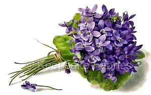 Beautiful Purple Violets In Bunch Quilt Block Multi Szs FrEE ShiPPinG WoRld WiDE