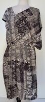 WAYNE BY WAYNE COOPER Black/White Asymmetrical Dress Size 16
