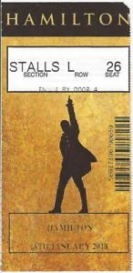 "Lin-Manuel Miranda ""HAMILTON"" Victoria Palace Theatre 2018 London Ticket Stub"