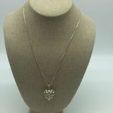 "Silver ""925"" Heart Pendant Necklace"