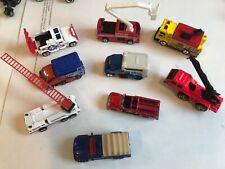 9 mostly Matchbox Die Cast Vehicles Rescue Emergency Trucks Fire Police