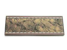 Fliesenbordüren 20x7cm Bordüren Bad Fliesen Badbordüre Mayka negro gold bronze