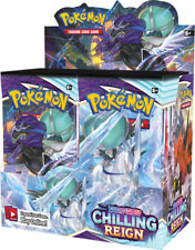 Chilling Reign Booster Box pantalla 36 paquetes Pokemon Tcg Sword y Shield