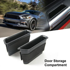 2pcs Inner Side Door Handle Storage Box Cover For Ford Mustang 2015+ Accessories