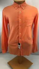 Ralph Lauren Shirt Mens Size Large Orange Custom Fit Long Sleeve Button Up New
