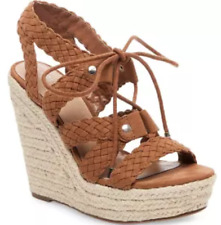 837dedbad4 Women's Mossimo Cognac Helia Platform Lace up Espadrille Wedge Sandals Size  5.5