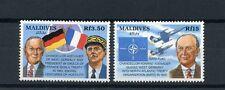 Maldives 1992 neuf sans charnière konrad adenauer 25th mem 2v set de l'otan drapeaux aviation timbres
