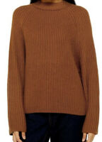 NWT Topshop Women's Brown Knitted Popper Side Sweater Size 4-6