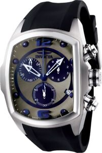 Invicta Men's Lupa Collection Swiss Quartz Chron Black/Blue/Gunmetal Watch 6101