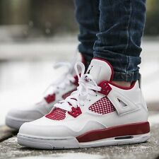 2016 Nike Air Jordan 4 Retro Alternate 89 SZ 6.5Y White Black Red OG 408452-106