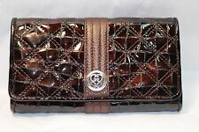 NWT BRIGHTON Wallet Bronze Patent Leather