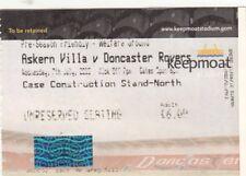 Ticket - Askern Villa v Doncaster Rovers 07.07.10