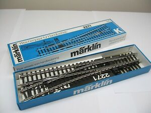 Marklin HO 2271 K Track Pair of Manual Turnouts Boxed New
