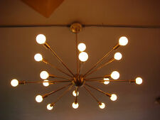BRUSHED BRASS ATOMIC SPUTNIK STARBURST LIGHT FIXTURE